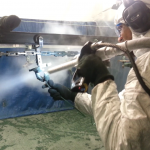 Dry Ice Blasting - Peeling Paint